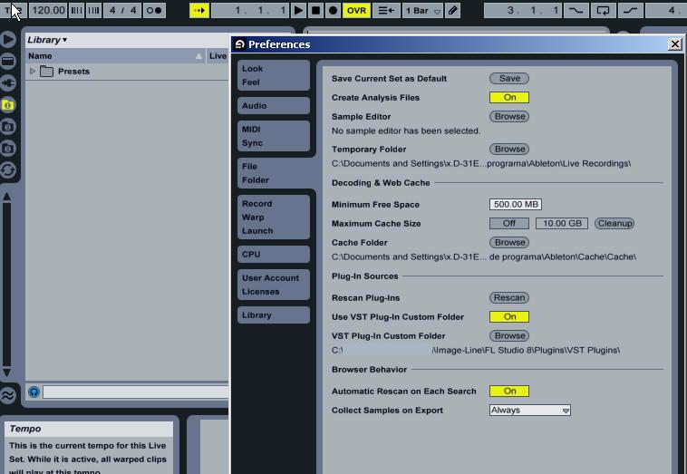 Ableton Live: Browsing Syntheway VST Instruments  VST Presets (FXP, FXB)