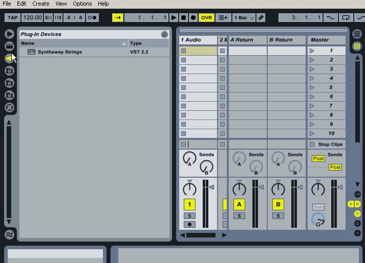 Ableton Live: Browsing Syntheway VST Instruments  VST