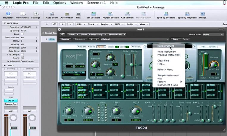 Apple Logic Pro X EXS24 MkII Software (Sampler / Sample