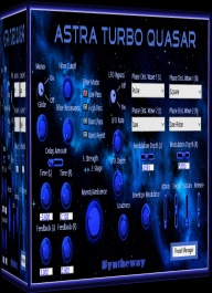 Astra Turbo Quasar is a dual phase distortion synthesizer that dynamically change the harmonic content of a carrier waveform by influence of another modulator waveform.. Available as plugin in VST and VST3 64 bit versions for Windows as well as in Audio Unit format for macOS Catalina...