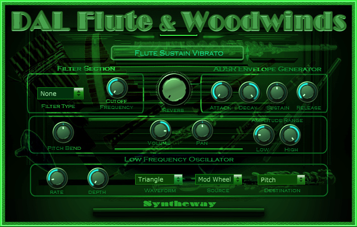 DAL Flute Woodwinds VST VST3 AU full screenshot