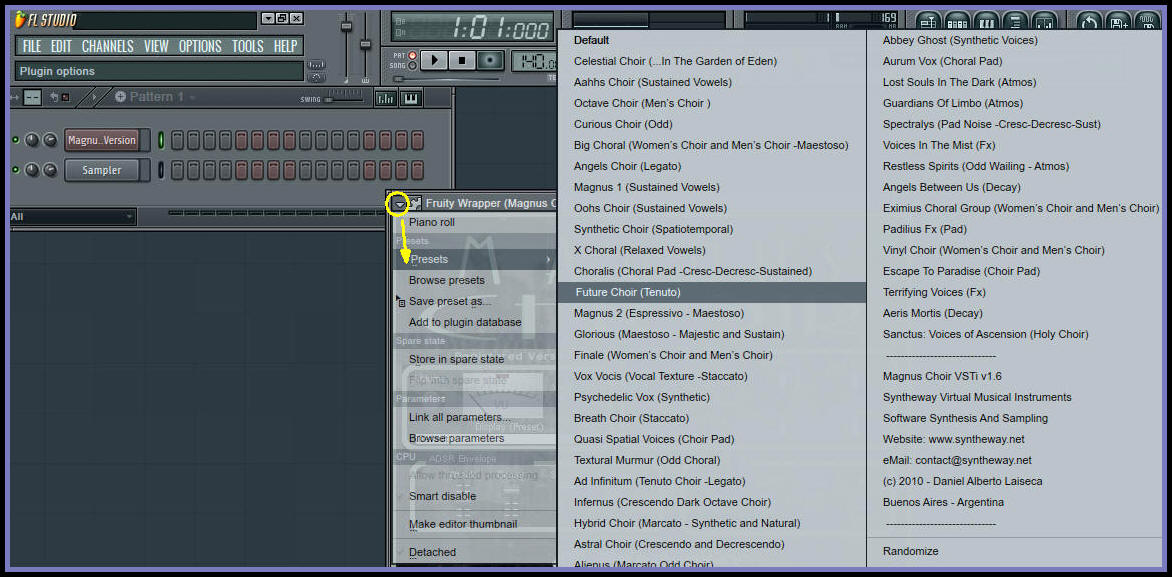 FL Studio 11: Managing Magnus Choir Presets (Predefined Sounds) FL11, FL12