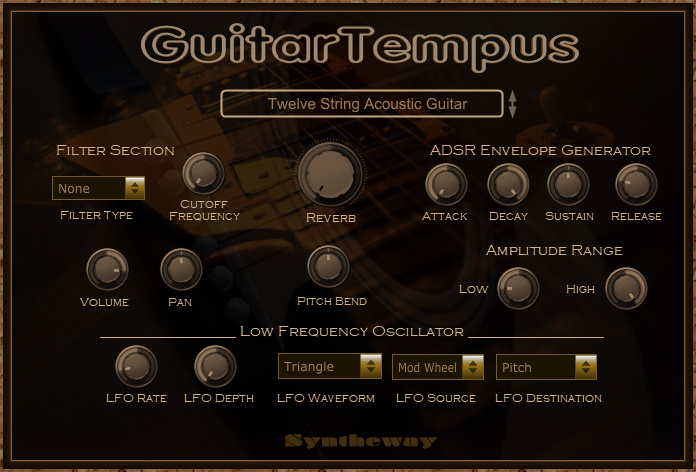 GuitarTempus Virtual Guitar VST full screenshot
