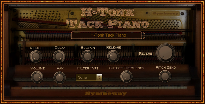Click on to return to the main page of H-Tonk Tack Piano VST VST3 Audio Unit Software from Graphical User Interface
