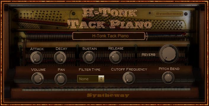 H-Tonk Tack Piano VST VST3 Audio Unit full screenshot