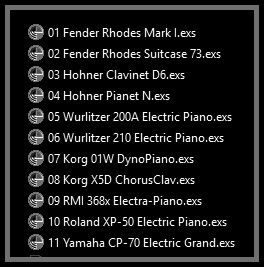 ElectriKeys Electric Piano has been formatted to Emagic EXS-24 instruments called .EXS files (in the case that you use Emagic's virtual sampler provided by Logic) or .NKI files (in the case that you uses the Native Instruments Kontakt player). They're adapted versions and formatted for Mac users only, and contains the main source sounds of Master Hammond B3 v2.1.1 meticulously tuned and adjusted.