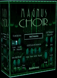 Magnus Choir is a virtual instrument plug-in which can be used to create natural and synthetic choirs, using a combination of synthesis and sampling. The male and female choruses combine to form a mixed chorus, featuring the classic SATB (Soprano, Alto, Tenor, Bass) structure: women sing Soprano and Alto, while men sing Tenor and Bass. In music, SATB is an initialism for soprano, alto, tenor, bass, defining the voices required by a chorus or choir to perform a particular musical work. Pieces written for SATB, the commonest combination and that used by most hymn tunes, can be sung by choruses of mixed genders, by choirs of men and boys, or by four soloists. no serial, crack, keygen, warez, full, fully, registered