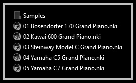 Realistic Virtual Piano NKI is a Sample Library version featuring Kawai and Yamaha Acoustic Grand Pianos, made specially for Mac users in order to use it on Native Instruments Kontakt.
