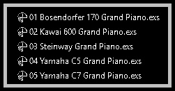 Realistic Virtual Piano has been formatted to Emagic EXS-24 instruments called .EXS files (in the case that you use Emagic's virtual sampler provided by Logic) or .NKI files (in the case that you uses the Native Instruments Kontakt player). They're adapted versions and formatted for Mac users only, and contains the main source sounds of Master Hammond B3 v2.1.1 meticulously tuned and adjusted.