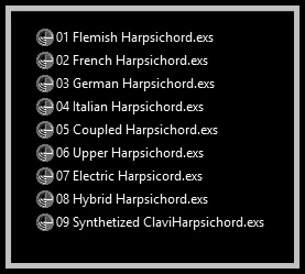 RetroMagix Harpsichord has been formatted to Emagic EXS-24 instruments called .EXS files (in the case that you use Emagic's virtual sampler provided by Logic) or .NKI files (in the case that you uses the Native Instruments Kontakt player). They're adapted versions and formatted for Mac users only, and contains the main source sounds of Master Hammond B3 v2.1.1 meticulously tuned and adjusted.