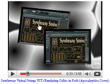 Syntheway Virtual Strings VSTi Emulating Cellos in Path (Apocalyptica Cover)