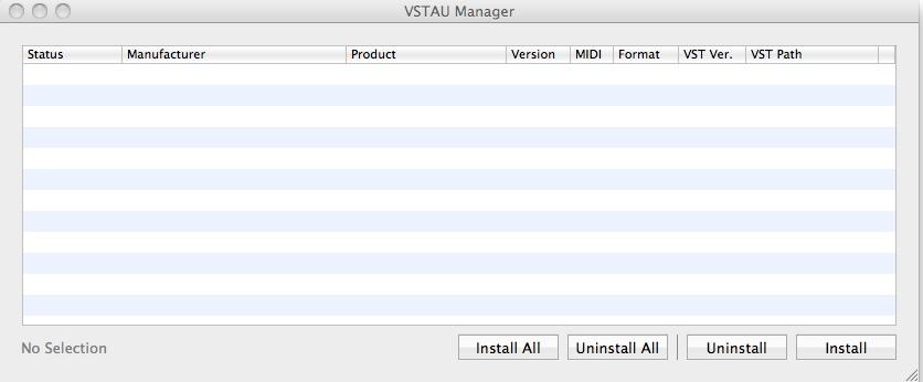 VSTAU Manager (VST to AU Adapter) Free Download VSTAU Manager-0 2rc3