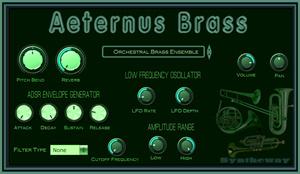 Aeternus Brass VST VST3 Audio Unit Plugin: Virtual Trumpet, Cornet
