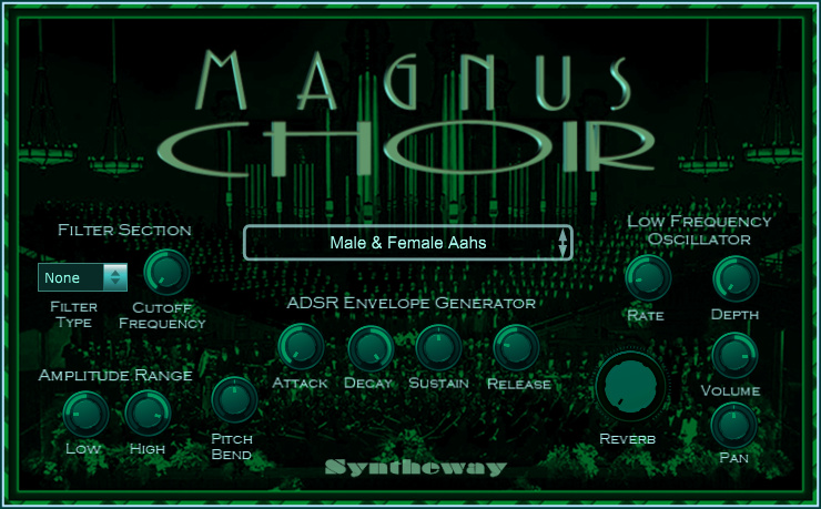Click on to return to the main page of Syntheway Magnus Choir VSTi Software from Graphical User Interface (Screenshot)
