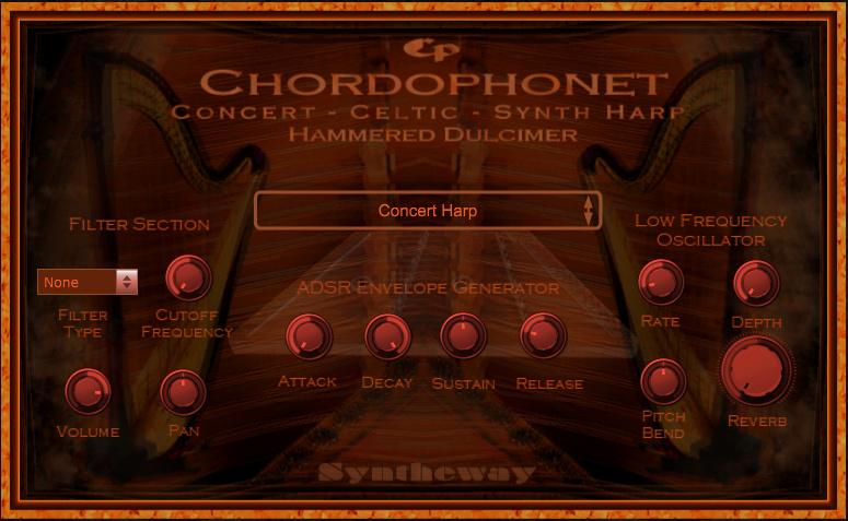 Windows 7 Chordophonet Virtual Harp & Dulcimer VST 2.0 full