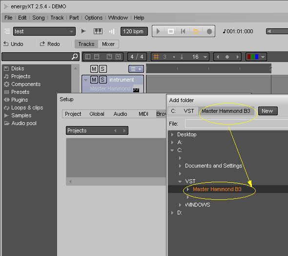 energyXT: Setting up Sytheway VST plugins