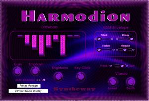 Harmodion VST VST3 Audio Unit: Virtual Clonewheel Drawbar