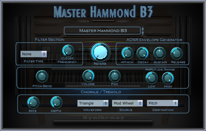 Click on to return to the main page of Master Hammond B3 Organ VSTi Software from Graphical User Interface (Screenshot)