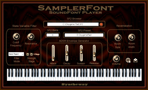 SamplerFont SoundFont (SF2) Player VST VST3 Audio Unit