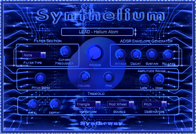 Return to the main page of Synthelium, a virtual instrument inspired by the classic synthesizers of the 70s and 80s.
