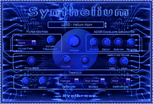 Synthelium Virtual Synthesizer VST VST3 Audio Unit: Synth Leads